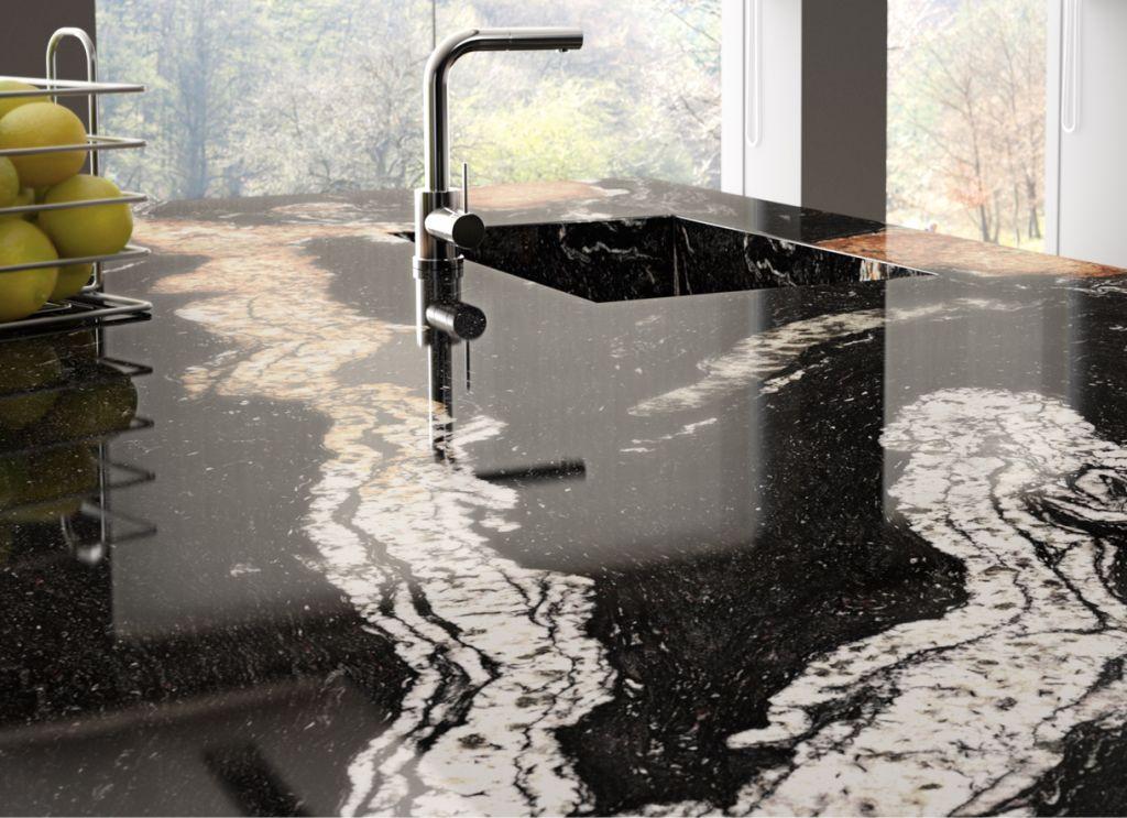Full granite kitchen sink